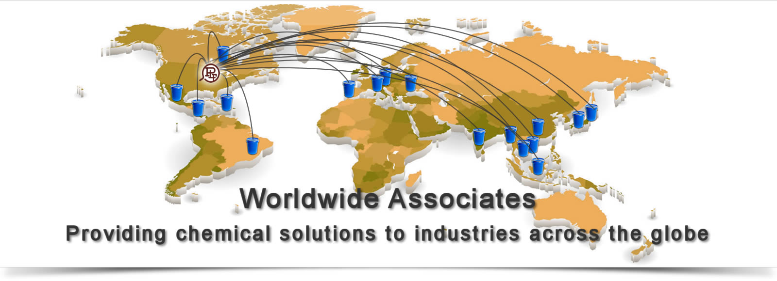 As Worldwide Associates we provide chemical solutions to inductries across the globe